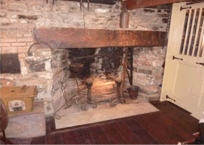 Photo of fireplace in Laperouse residence, Yorktown NY