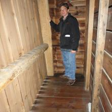 Jay Lampkin in the NipMoose corn crib